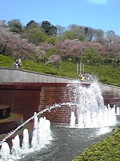 西山公園の噴水