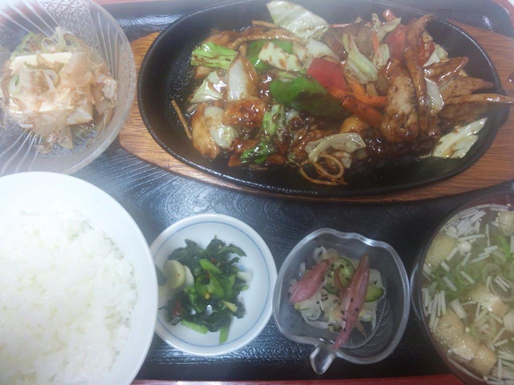 肉味噌定食